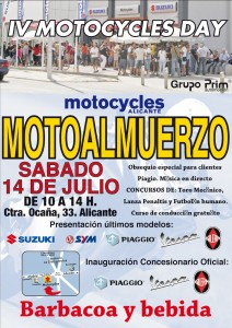 IV MOTOCYCLES DAY - MOTOALMUERZO -, estas invitado.